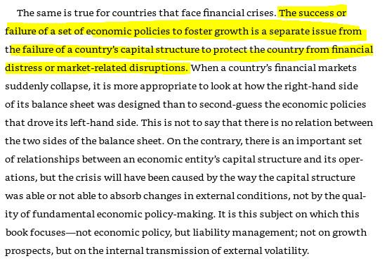 """On Argentina: Don't always agree with Michael Pettis, but I've always loved this bit in """"The Volatility Machine"""" (2001) about how crises in emerging markets are often unfairly blamed on domestic economic policy."""