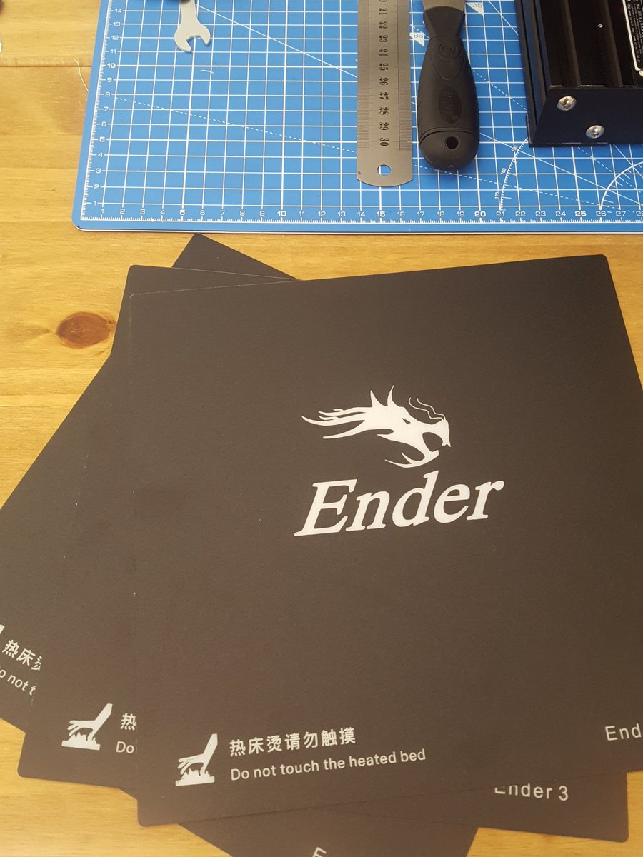 Some nice new @Creality3dprint Ender 3 build surfaces just arrived  #3dprinting ...