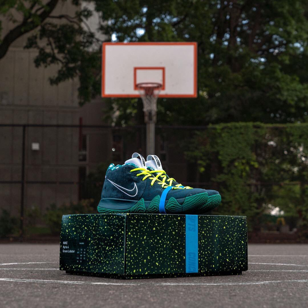 x nike kyrie 4 green lobster raffle going down today at the corporal burns  park courts 24507e2c0