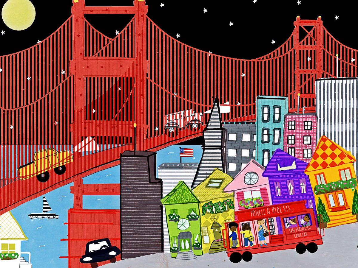 Vl durand on twitter colourcollective kidlitart illustration vl durand on twitter colourcollective kidlitart illustration greetings from san francisco m4hsunfo
