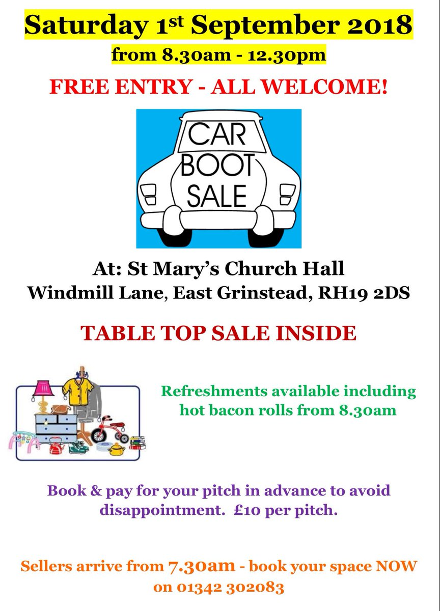 about east grinstead on twitter boot sale