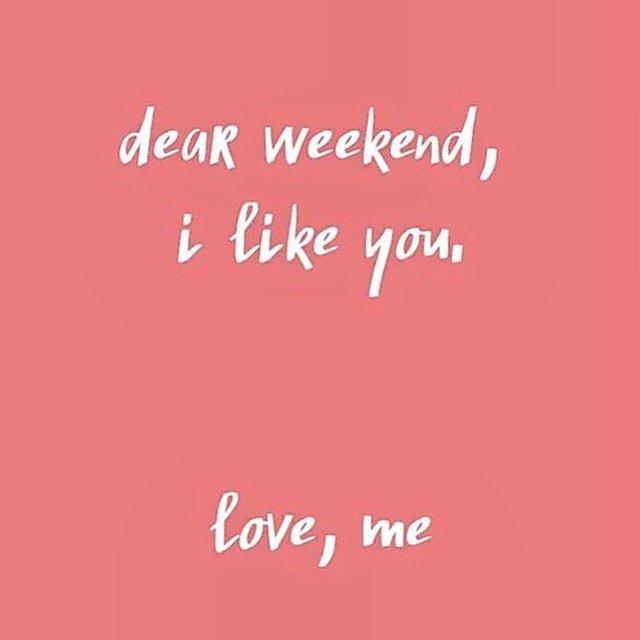 Wanna go steady, weekend? #FitFriday #FriYAY