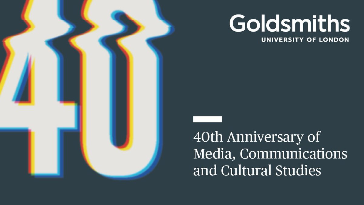 ... and our relaunch as the Department of Media, Communications and Cultural  Studies: https://www.gold.ac.uk/news/mccs/ (1/2)pic.twitter.com/FTxarabfPr