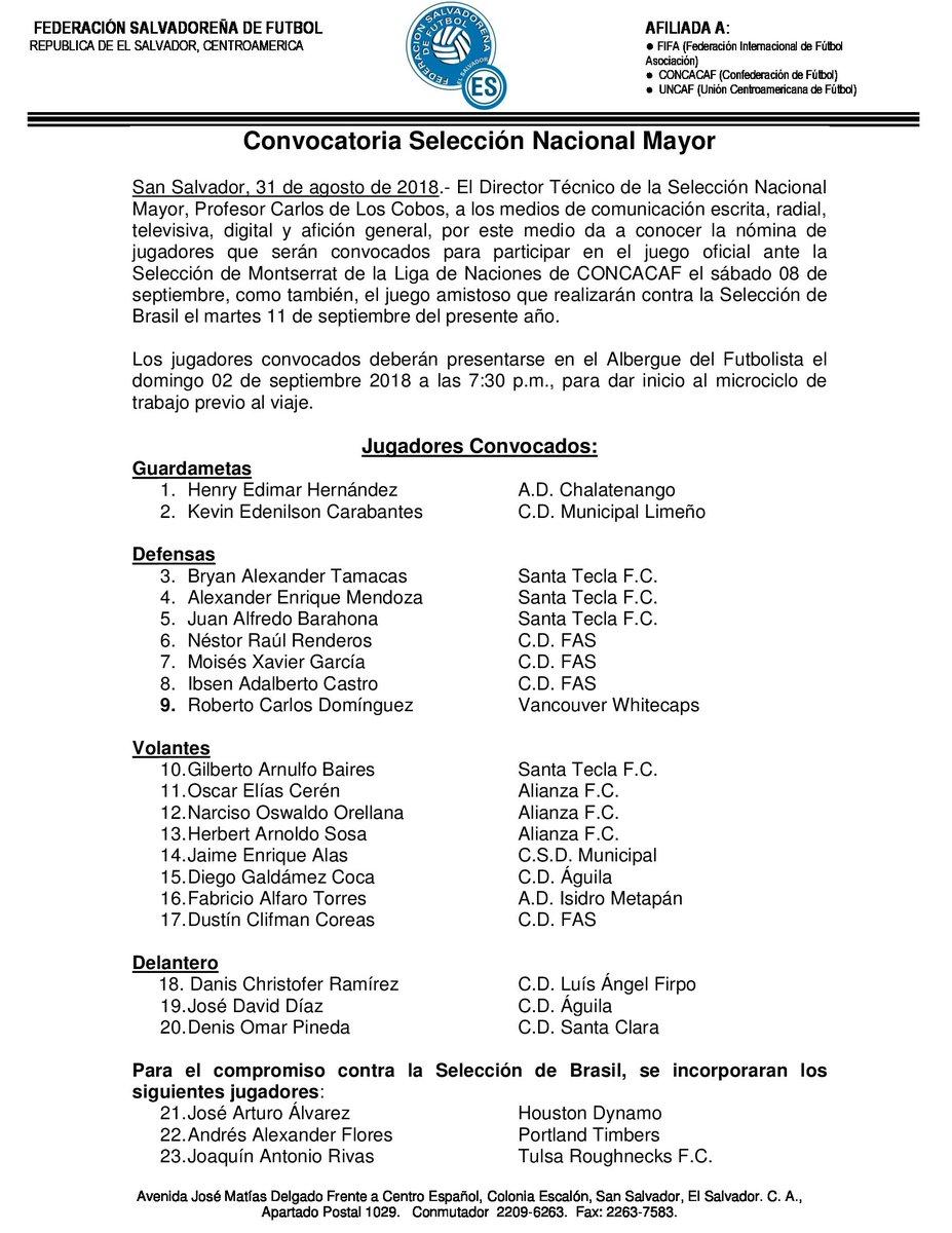 Liga de Naciones CONCACAF y Eliminatorias a Copa Oro 2019 [8 de septiembre del 2018 - Monserrat] Dl8X2fRWwAAwwhb