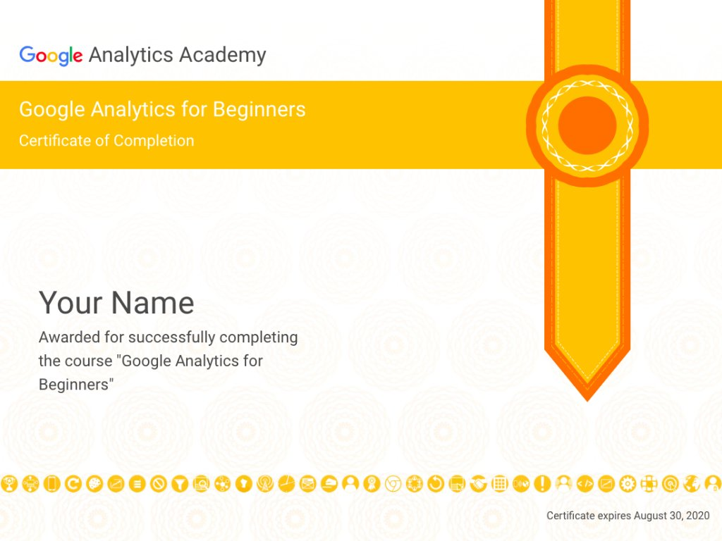 Google Analytics On Twitter Introducing Shareable Certificates On