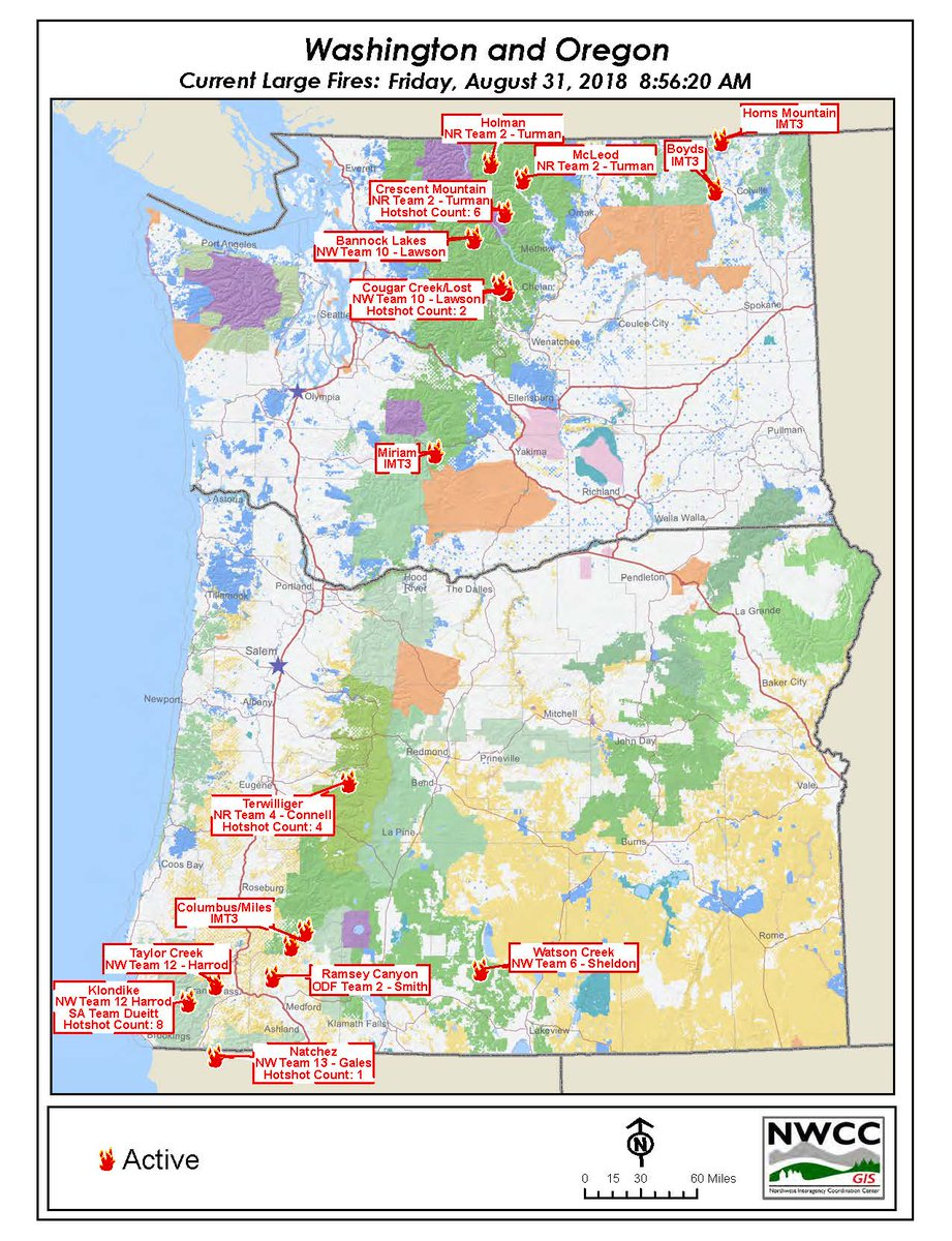 Nwcc Large Fire Map NWCC on Twitter: