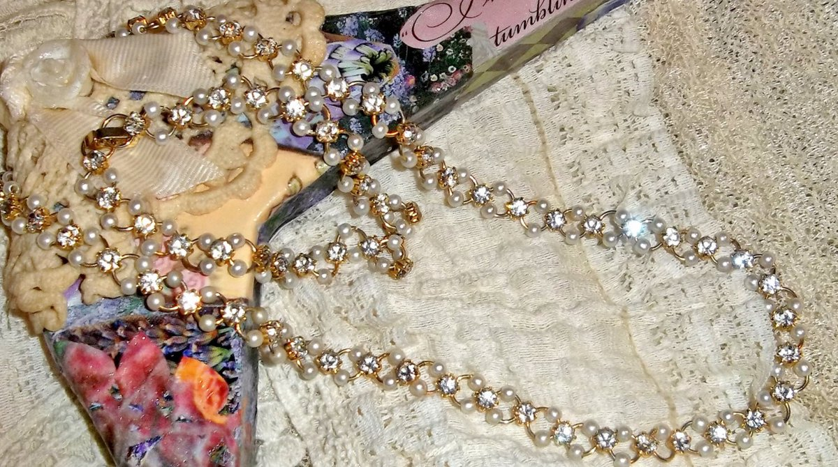 Faux crystal bead hoop earrings.