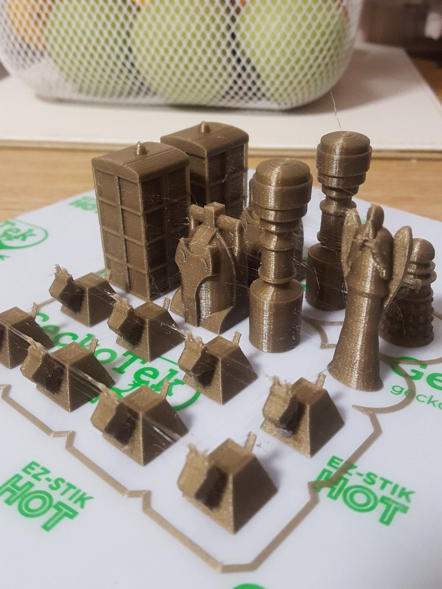 First set of the #DrWho chess pieces found on @thingiverse finished, a few strin...