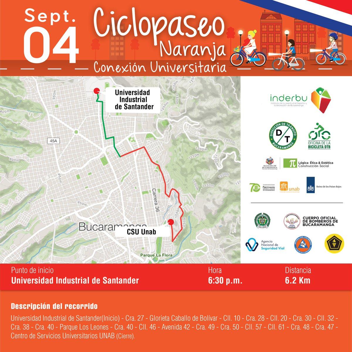 Participe del Ciclopaseo Naranja - UNAB