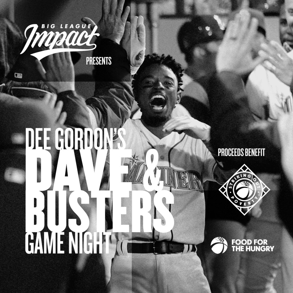 Come join me and some surprise guests from the @Mariners and @Seahawks at @DaveandBusters in Auburn, WA on 9/10 for a very special night to support @koutpoverty and @food4thehungry .  Click the link for more details!  https://t.co/NTCBD1qjKB