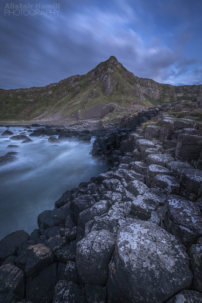 Deepest twilight at the Giant's Causeway.