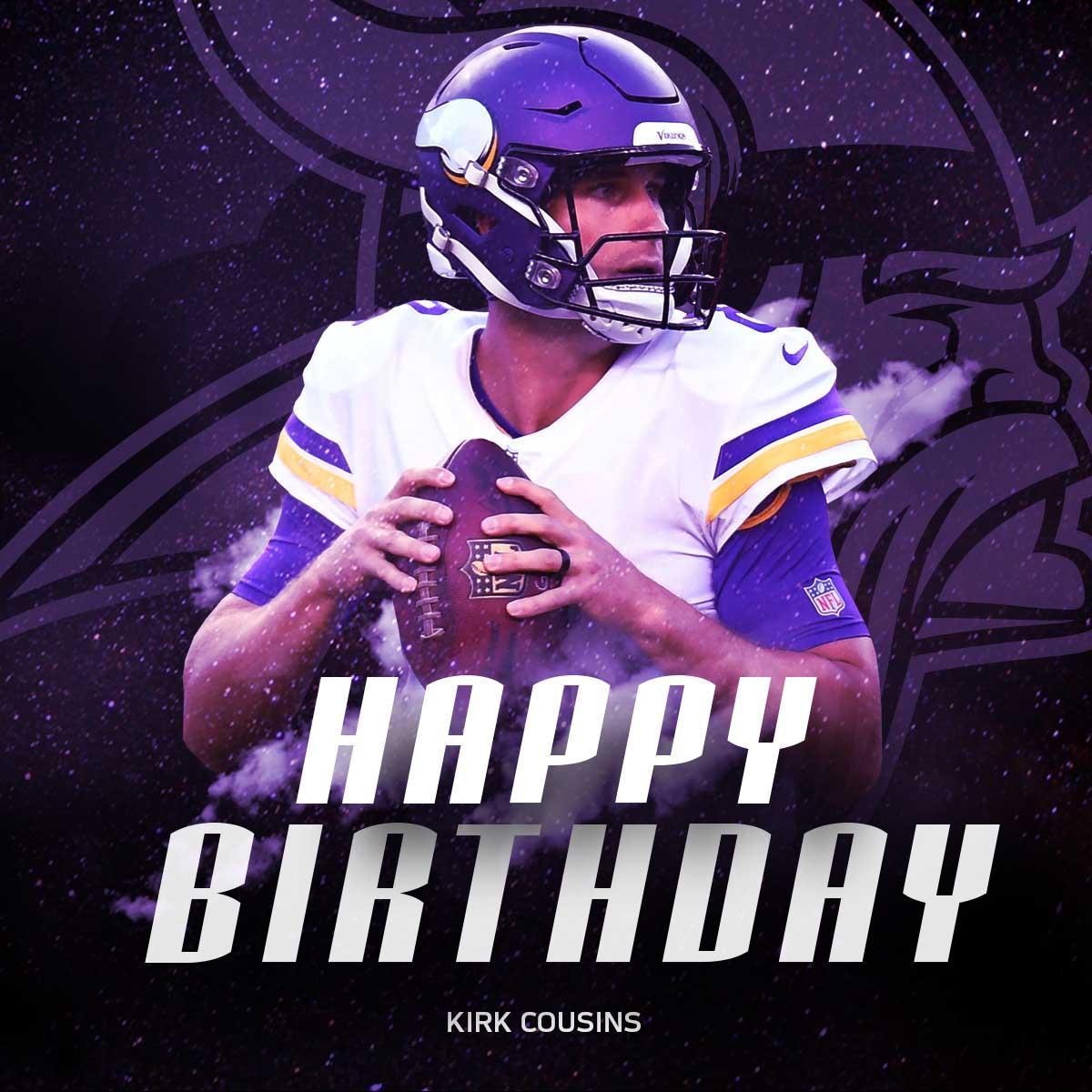 HAPPY 3️⃣0️⃣TH BIRTHDAY to @Vikings QB @KirkCousins8! ������ https://t.co/cKoNgFfQhJ