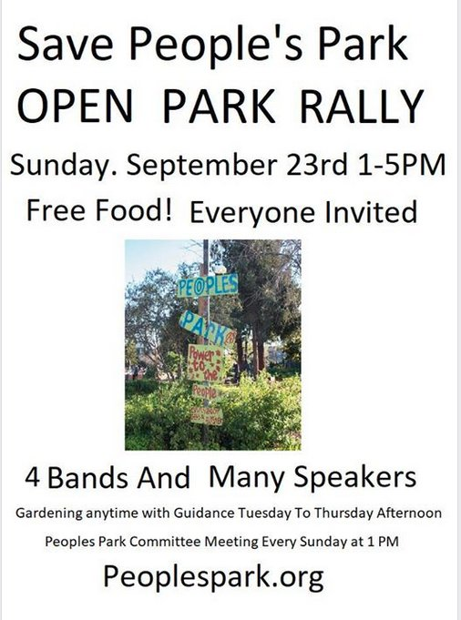 Save People's Park Rally @ People's Park | Berkeley | California | United States