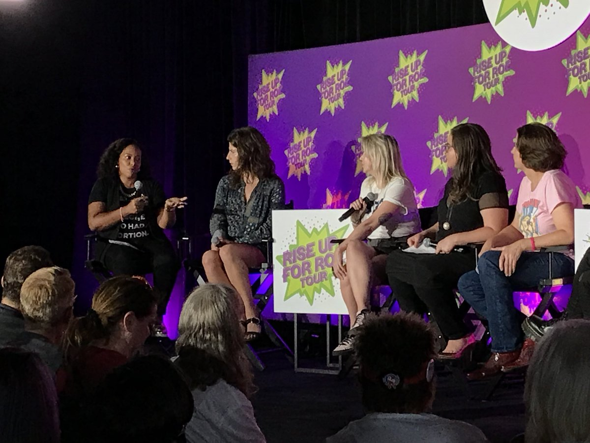 """When we talk about what will happen in a post-Roe world—a lot of women of color are ALREADY living that reality."" — Yamani Hernandez, executive director of @AbortionFunds on how women of color are disproportionately affected by restrictions on reproductive rights. #RiseForRoe"