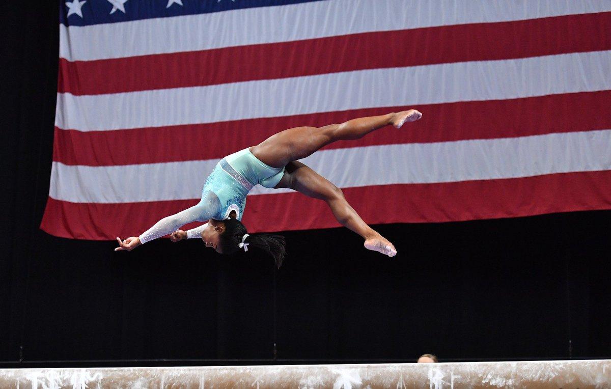 2018 U.S. Gymnastics Championships Senior All-Around Results 1. Simone Biles - 119.85 2. Morgan Hurd - 113.300 3. Riley McCusker - 112.75 4. Grace McCallum - 111.650 5. Shilese Jones - 109.85 6. Jade Carey - 109.7 7. Kara Eaker - 109.65 8. Trinity Thomas - 109.6 #USGymChamps