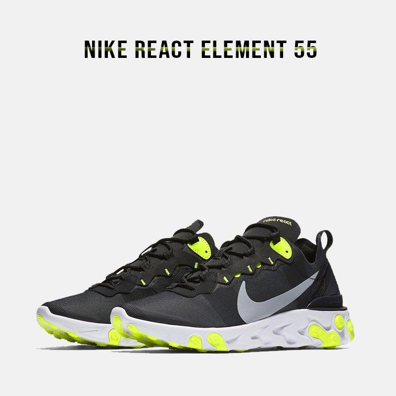154c8f8d36e0f Nike Wmns React Element 55 - Black Volt (BQ2728-001) USD 175 HKD