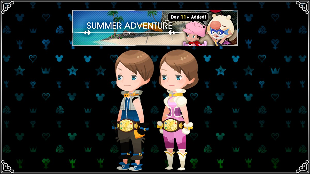 Also arriving are new Deluxe Rewards for Both Solo and Party Rankings, new Summer Adventure quests, and a 0AP campaign that will last until August 31st! All begin tonight at midnight (PT)! Enjoy! #KHUX<br>http://pic.twitter.com/f7M2yvVCeq