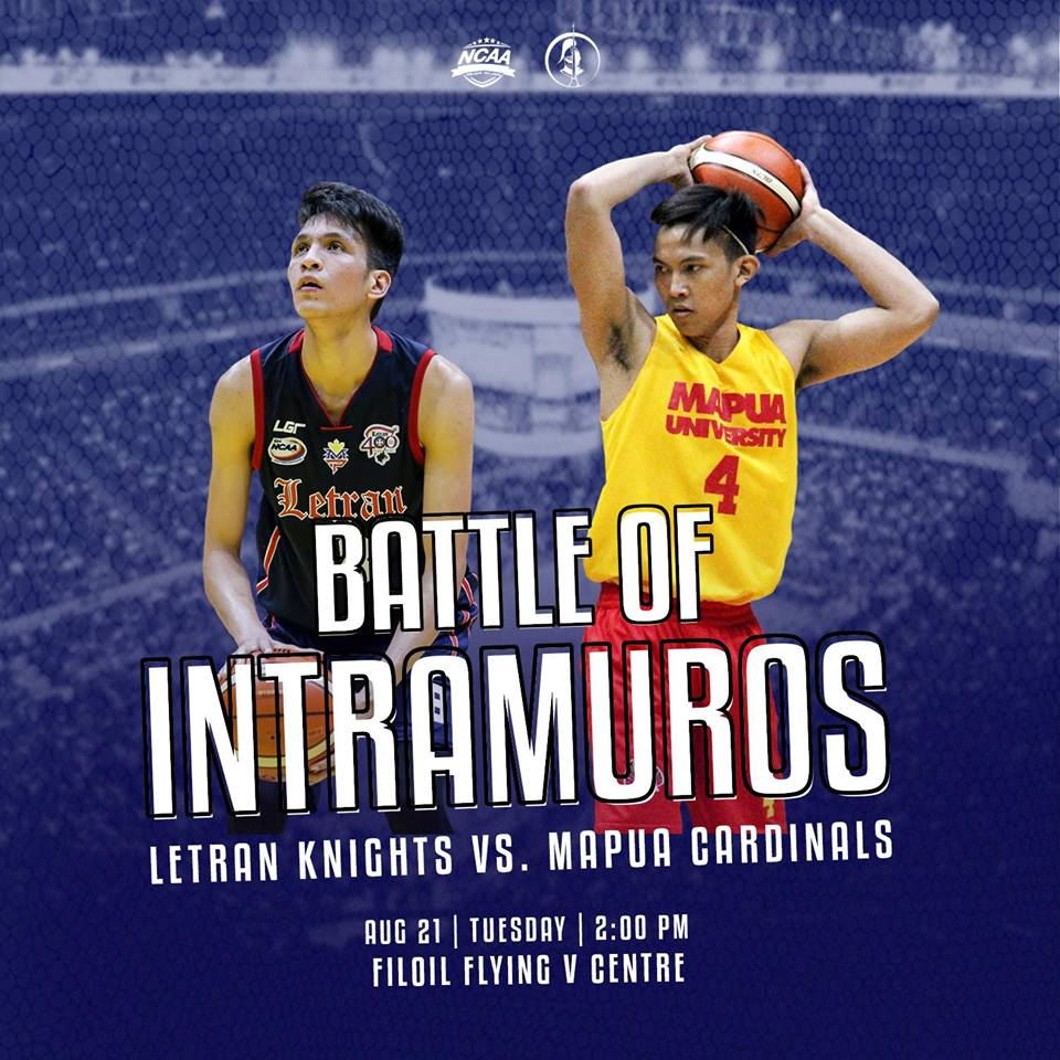 Support Jeo Ambohot and the Letran Knights as they go up against the Mapua Cardinals in the #BattleofIntramuros tomorrow, 2:00 p.m. at the Filoil Flying V Centre. #StayInTheKnow  Photos courtesy of Inquirer Sports and Daytime View.<br>http://pic.twitter.com/1zuyrN5SwH