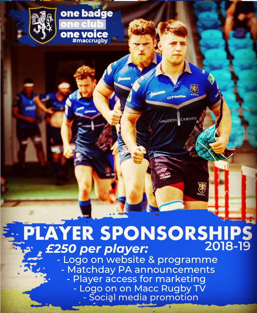 test Twitter Media - JOIN THE TEAM!!! Macclesfield Player sponsorships available for £250 each! Great marketing opportunities for getting your company name out there!!! Contact the club, player or coaching department to discuss!! #jointheteam #investinmacc #maccrugbyclub #maccrugby https://t.co/TEJ5c9Qvog