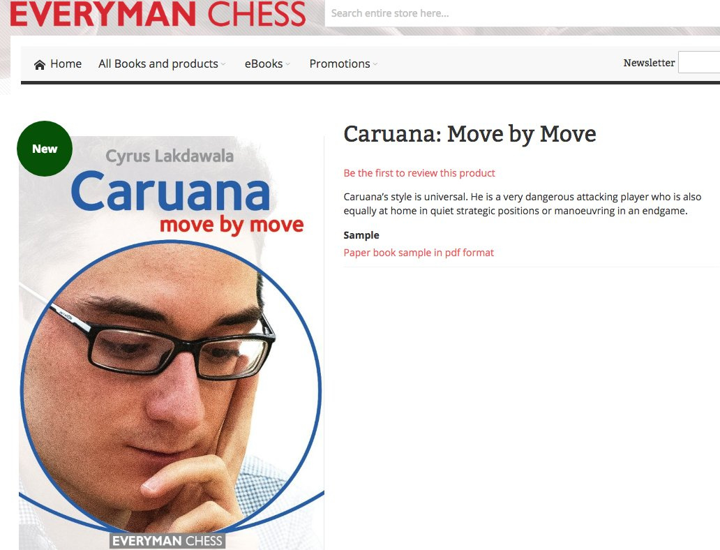 Everyman chess everymanchess twitter caruana move by move httpsbit2ppztld is now at the printer and will publish in september in europe and october in the us just in time for the world fandeluxe Image collections