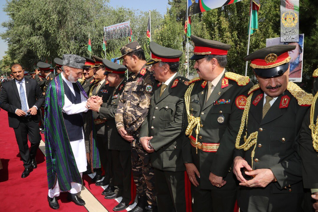 Former President @KarzaiH attended the 99th Independence Day ceremony in #Kabul today. #AfghanistanIndependenceDay