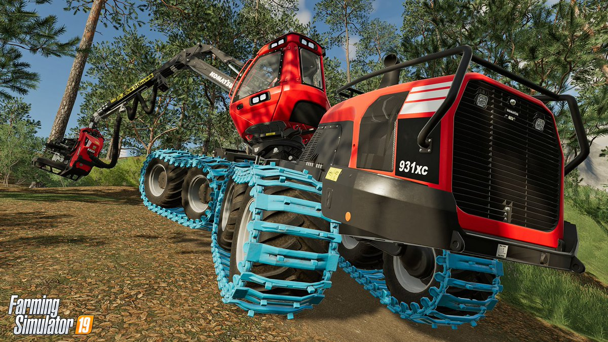 We're very proud to announce today that Komatsu Forest, one of the world's largest manufacturers of forest machines, will be in Farming Simulator 19. <br>http://pic.twitter.com/19k0u2X7rw