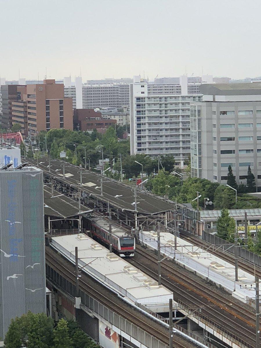 京葉線の市川塩浜駅で人身事故の現場の画像