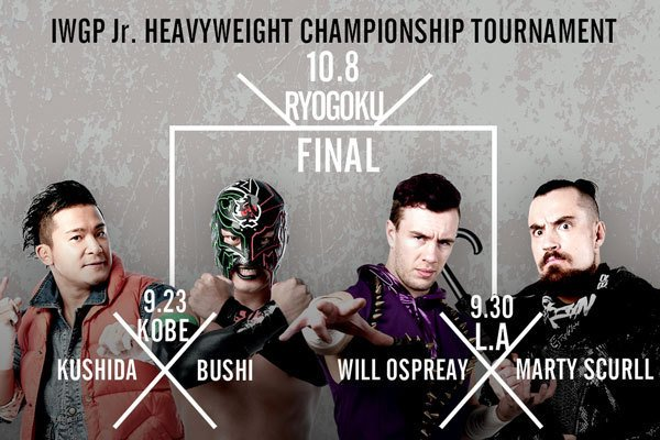 The Junior IWGP throne is vacant. KUSHIDA, BUSHI, Ospreay, and Scurll have all entered the Junior Heavyweight championship tournament!  https://www. njpw1972.com/34611  &nbsp;   #njpw #njdest<br>http://pic.twitter.com/oo8Ya0tASp