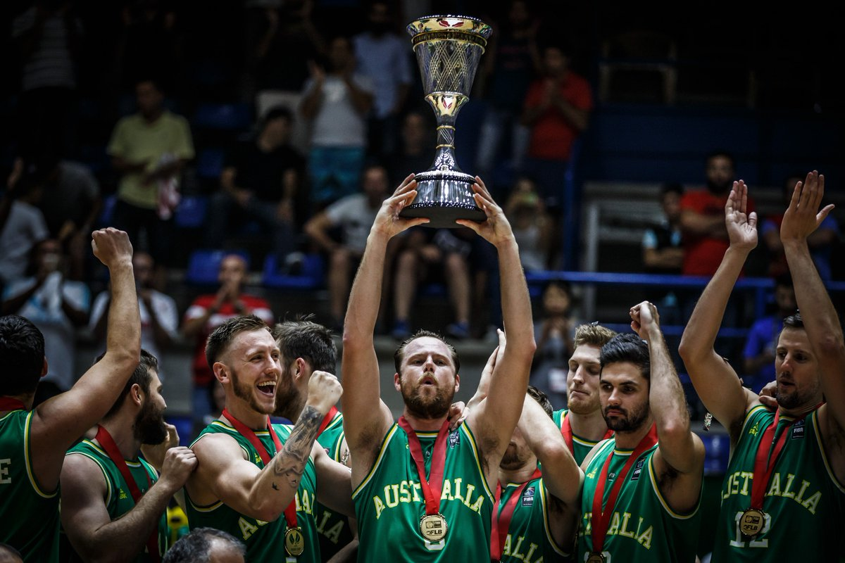 #OnThisDay last year the Boomers 🇦🇺 became the 1⃣st-ever #FIBAAsiaCup CHAMPIONS 🏆 after beating 🇮🇷 79-56 in Beirut!