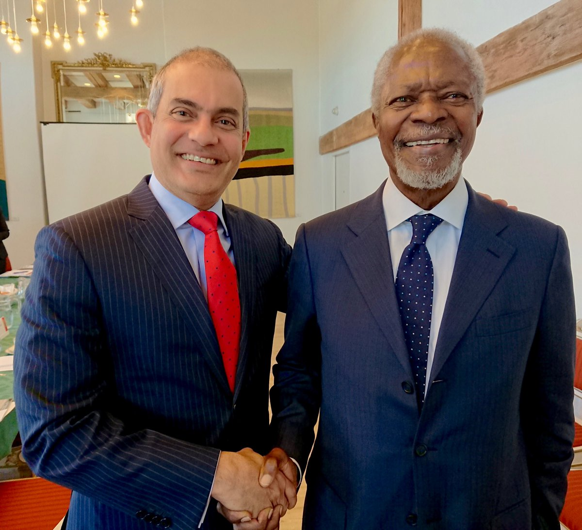 With Kofi Annan in Copenhagen in a June at the launch of the lessons learned report of the Rakhine Advisory Commission. A great humanitarian leader Committed & engaged to making a difference till the very end. May he Rest In Peace!