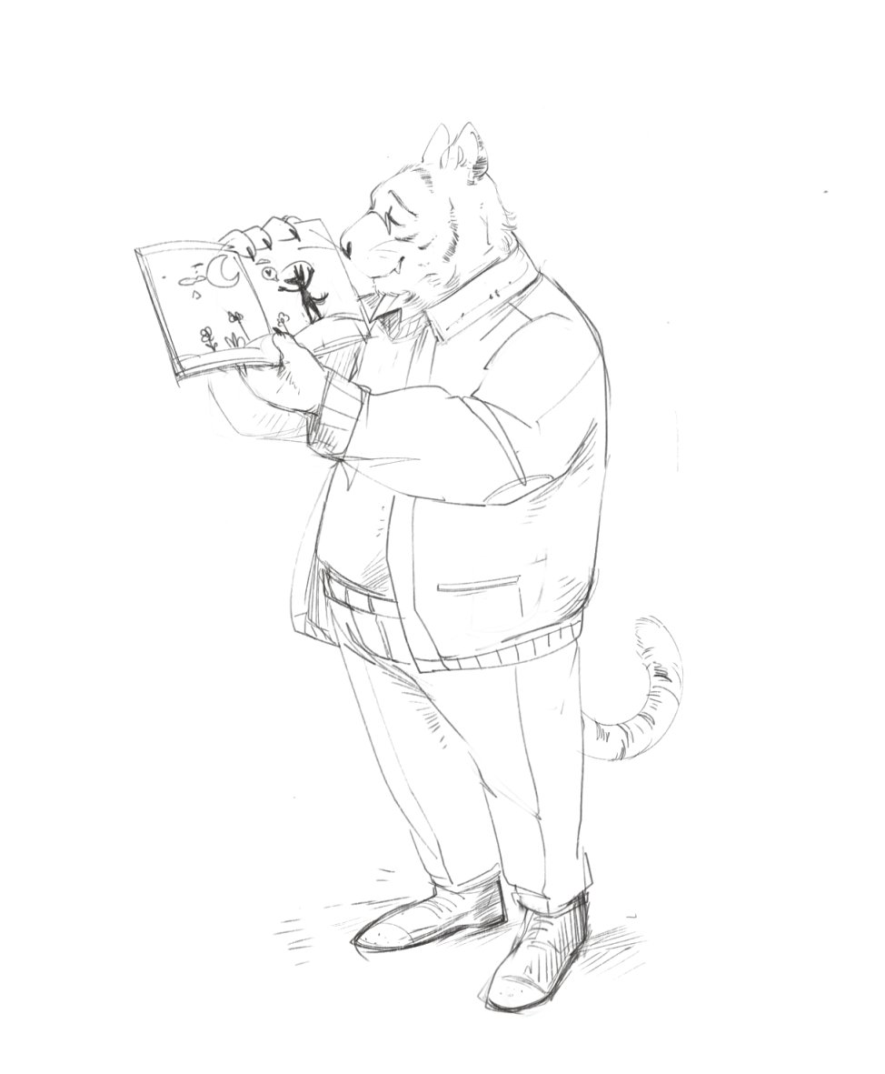 A local librarian   finally got around to cleaning up that sketch. <br>http://pic.twitter.com/h2wFBvTZoH