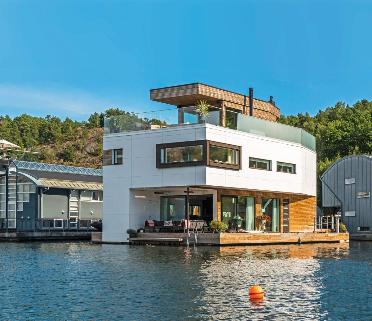 """Maison Ossature Bois Suede architecture bois on twitter: """"villa flottante en ossature"""