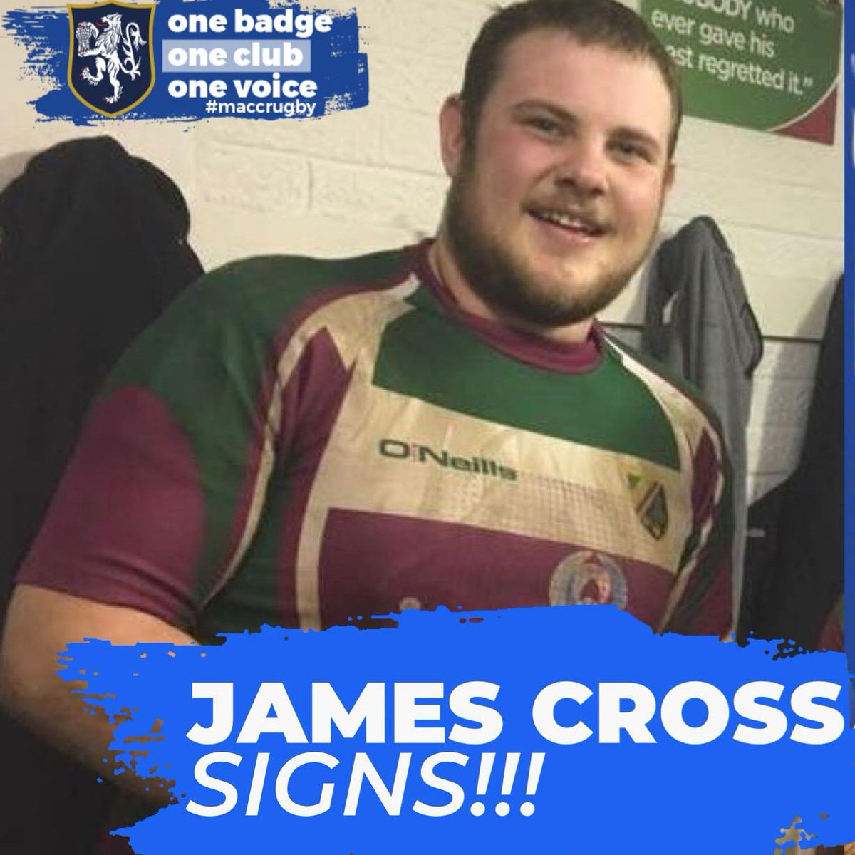 test Twitter Media - ✏NEW SIGNING ALERT  Marshall has added the services of versatile front row (& wicket keeper batsman!) James Cross to the squad... 🏉  #maccrugby #Macclesfield #signing https://t.co/m6q5xaaUxP