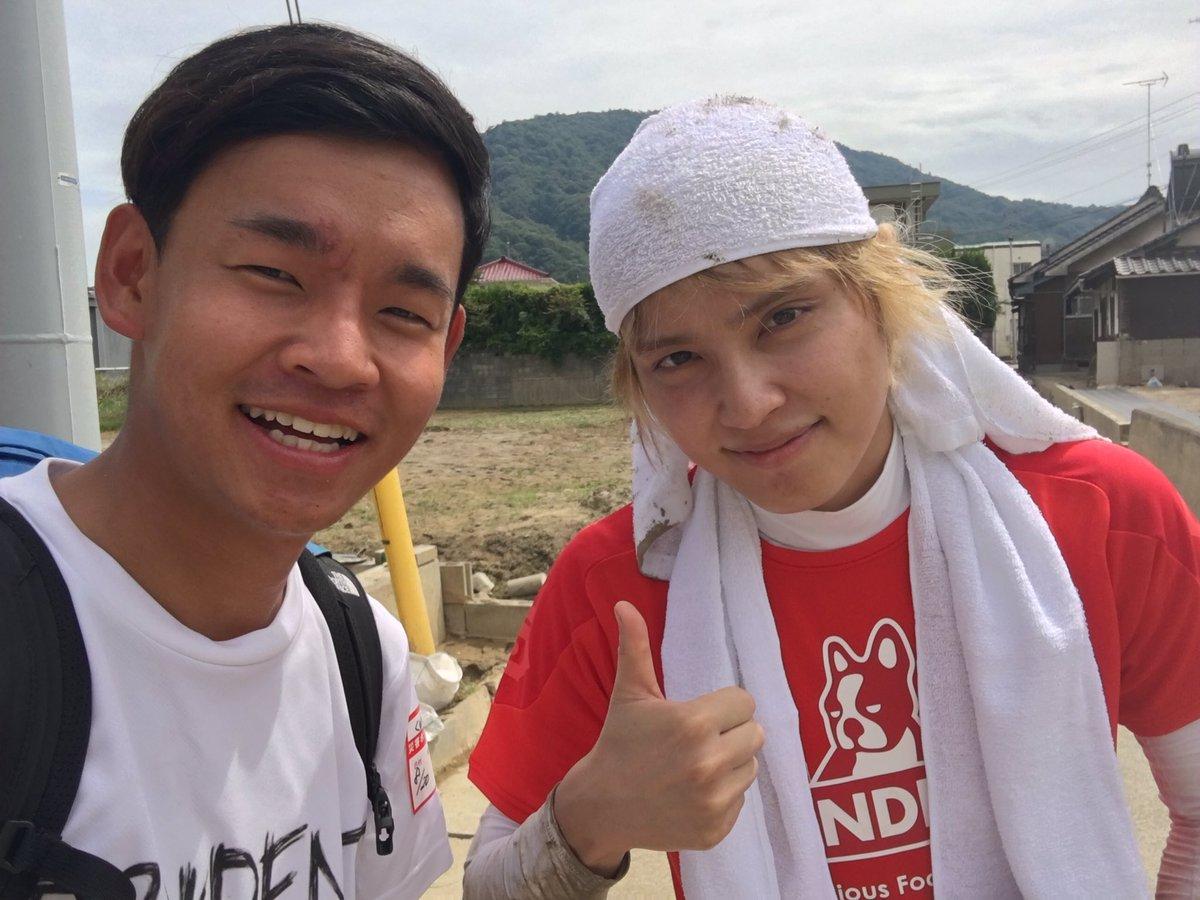 手越祐也さんが呉市安浦町でボランティア活動する画像