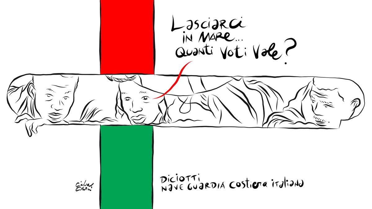 Lasciarci in mare...Quanti voti vale?#Diciotti #Italy #Lampedusa @guardiacostiera http:// www.gianlucacostantini.com  - Ukustom