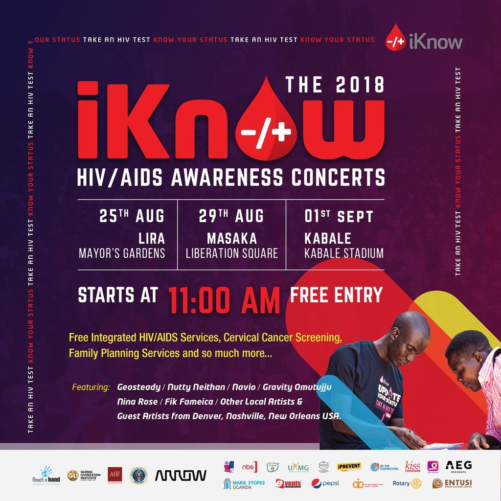 And the First  #iKnowKati HIV/AIDS awareness concert is happening this Saturday in lira at the Mayor&#39;s Gardens starting at 11am featuring artists like @geosteadyOffici @naviomusic Nutty Neithan, @FFameica, Nina Roz and many others local Artists from Uganda.<br>http://pic.twitter.com/0WeVvILmi4