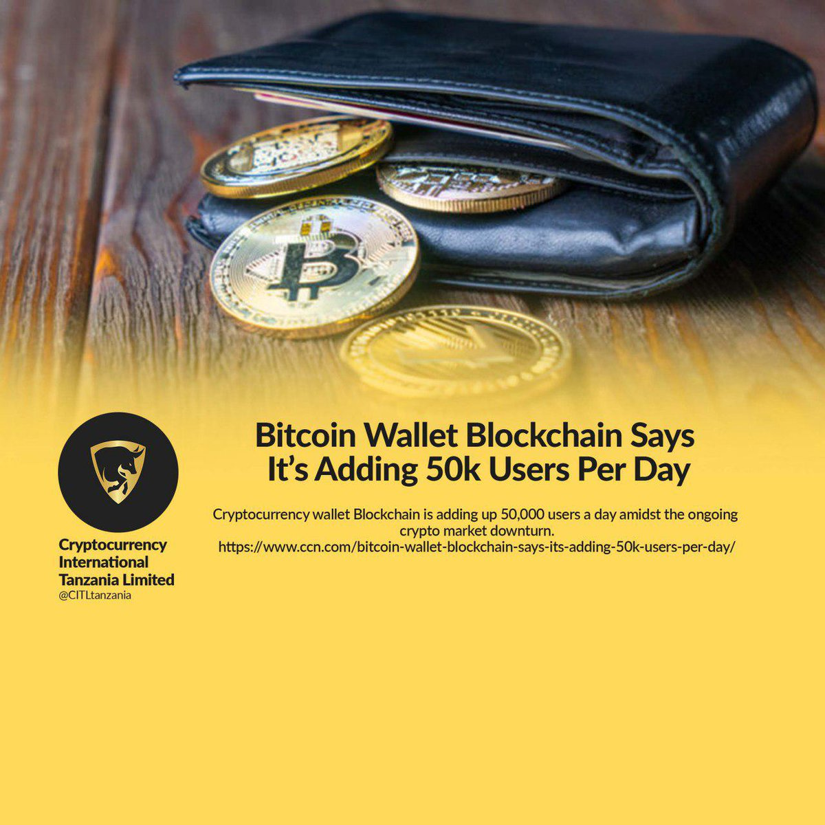 Bitcoin Wallet Blockchain Says It's Adding 50k Users Per Day #cryptocurrency #bitcoin #crypto #blockchain #ethereum #litecoin #btc #money #forex #trading #investing #coinbase #bitcoins #investor #eth #bitcoinmining #cryptonews #cryptocurrencies <br>http://pic.twitter.com/VTbzbZOfaO