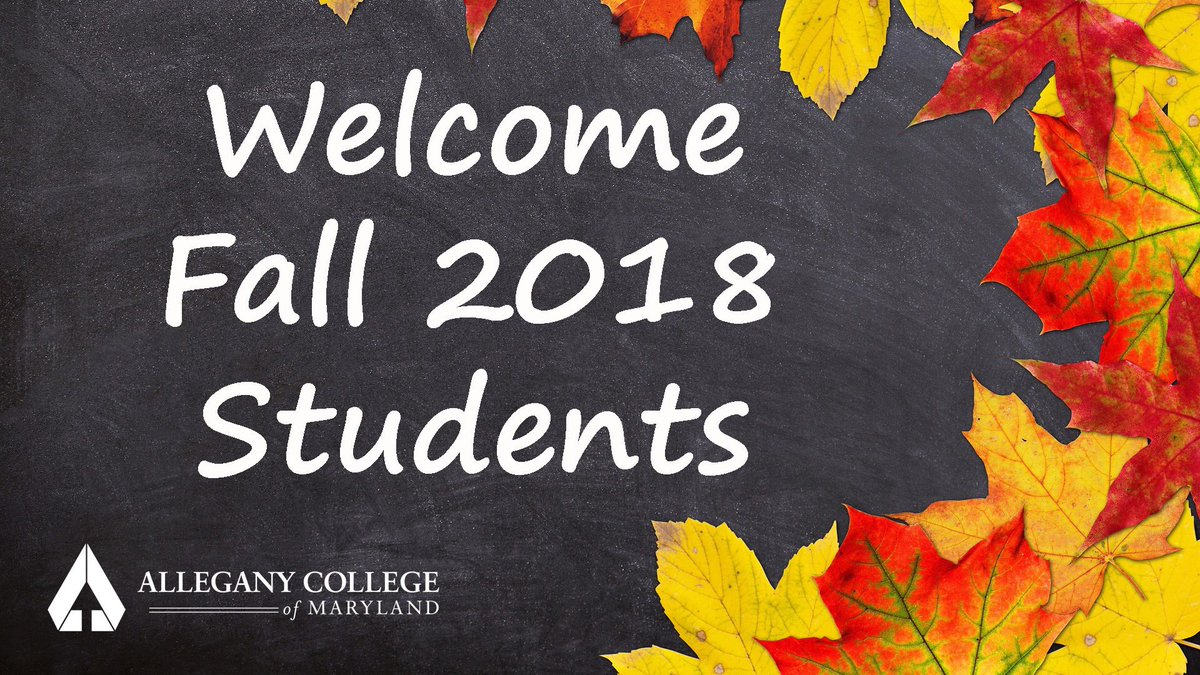 The Fall 2018 semester has begun!    Welcome students, new and returning alike.  We are looking forward to a great year!   #EngageYourFuture #alleganycollegeofmaryland #ExperienceACM #newyear #newsemester #Fall2018 #welcome #gladyourarehere #haveagreatyear<br>http://pic.twitter.com/j1vgKce05g