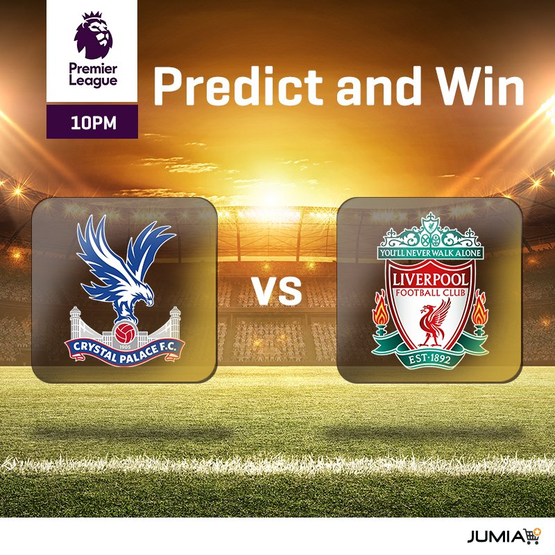 PREDICT AND WIN a Visa FIFA World Cup Box Who will win in the game between Crystal Palace and Liverpool and what will be the score? MAKE SURE your reply has #JumiaBackToSchool and RT after your prediction. #CRYLIV bddy.me/2nTO9WG