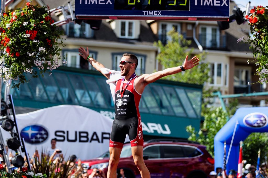 I knew my @IRONMANtri debut would be special, but nothing prepared me for the challenge &amp; rush of a win on home soil with bike &amp; overall course records at @IMMontTremblant! Utterly overwhelmed by all your support! Stay tuned for my video recap!  @koruptvision<br>http://pic.twitter.com/O30EJgcfHB