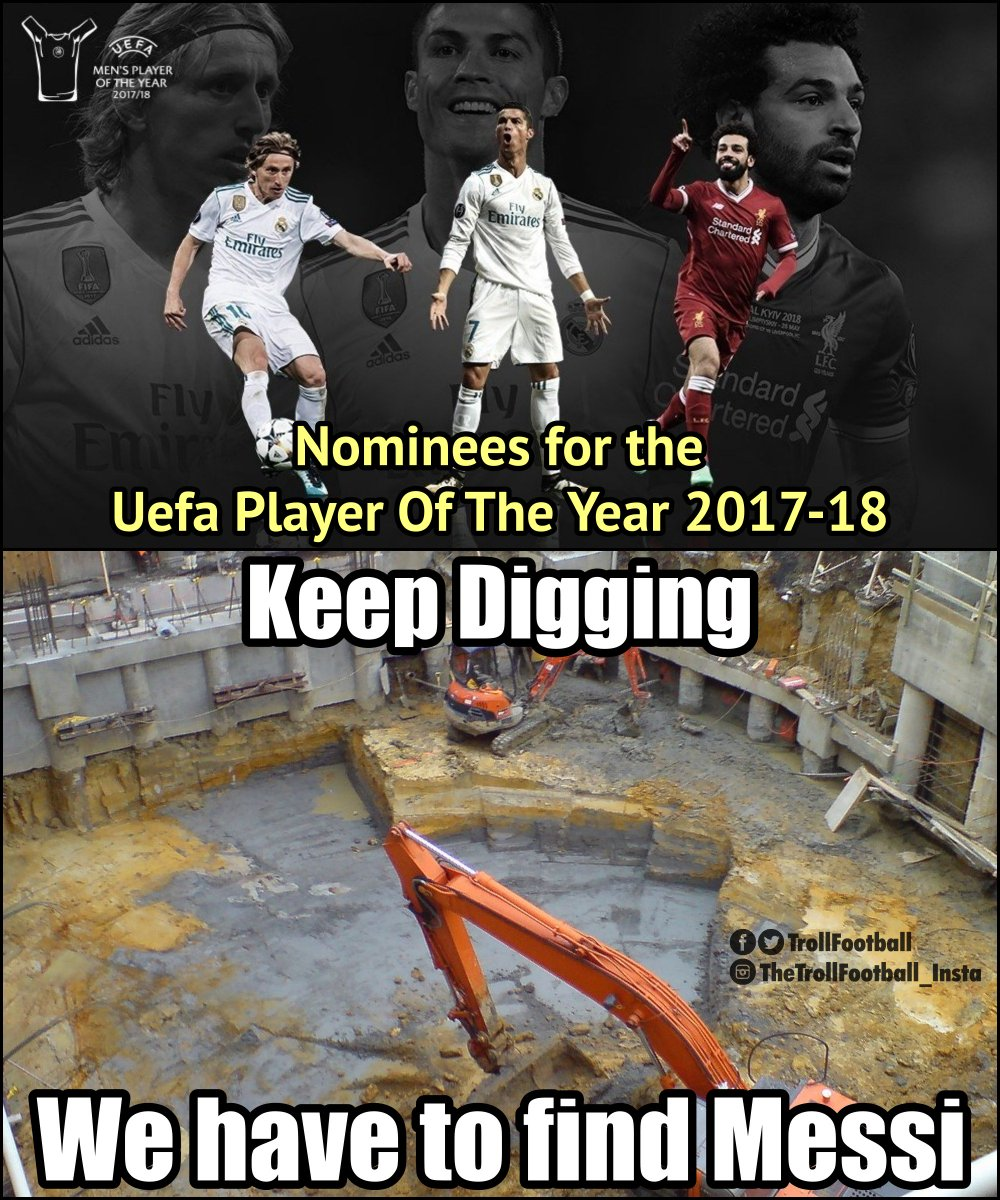 Who will UEFAs mens player of the year award?