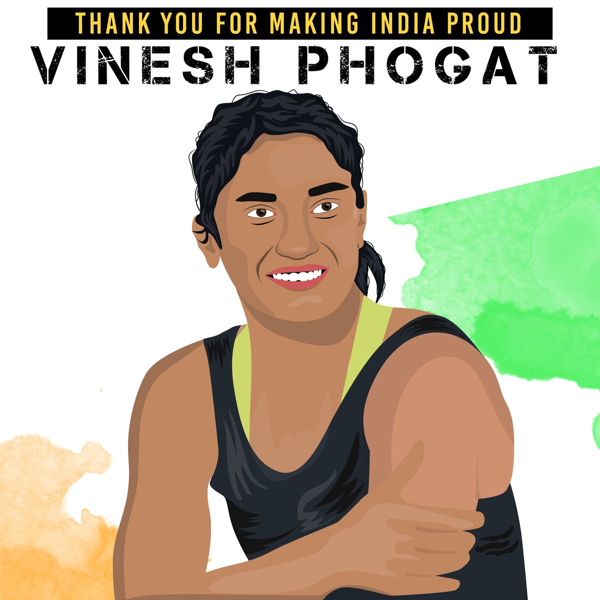 Thank u for making Indians proud. Take a bow! #AsianGames2018 #VineshPhogat @Phogat_Vinesh #Wrestling #WomenPower