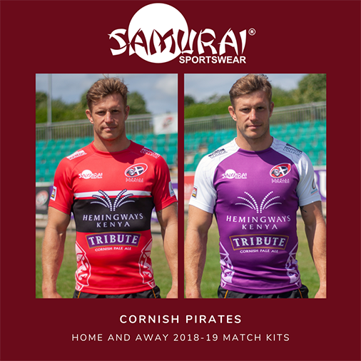 test Twitter Media - The #New @CornishPirates1 Home & Away kit for the 2018-19 season! Read more about the new kit launch here>>https://t.co/XL0QadbJj3 #SamuraiFamily https://t.co/T8SwIXUtmC