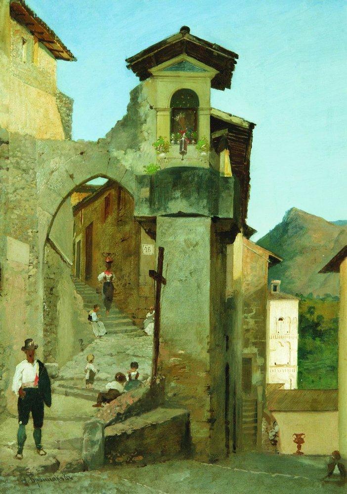 Italian Courtyard wikiart.org/en/fyodor-bron… #wikiart #romanticism