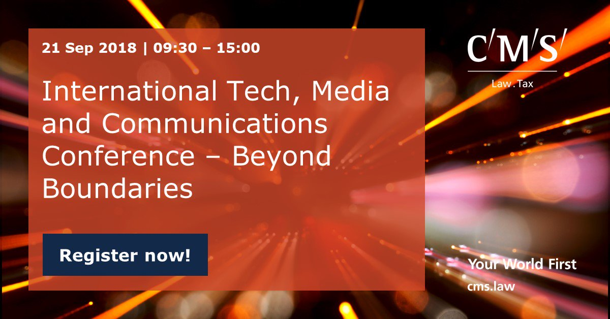 test Twitter Media - Join us in London on 21 September for the 4th CMS International Tech, Media and Communications Conference. Register here: https://t.co/S1gwm8kUAE https://t.co/RD4zpAOdr6