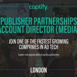 Captify is hiring! Explore this exciting new opportunity in London: https://t.co/kRXPSaS20N #captifycareers #captify #adtech #media