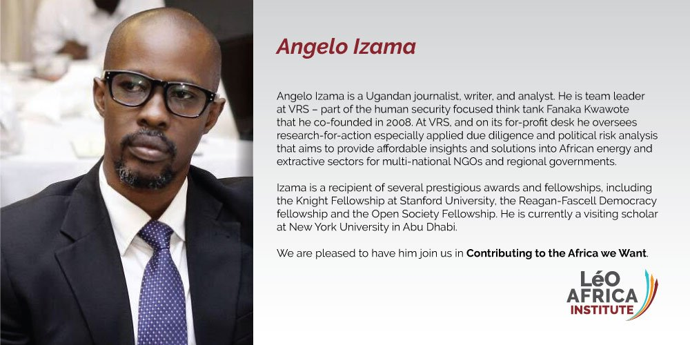 The LéO Africa Institute is pleased to announce the latest addition to our board of directors, Angelo Izama! Angelo will be serving as our Head of Faculty. He has been a long serving part of the LéO family, and we&#39;re privileged to have his expertise in this new role. <br>http://pic.twitter.com/Hwtdp99uGI