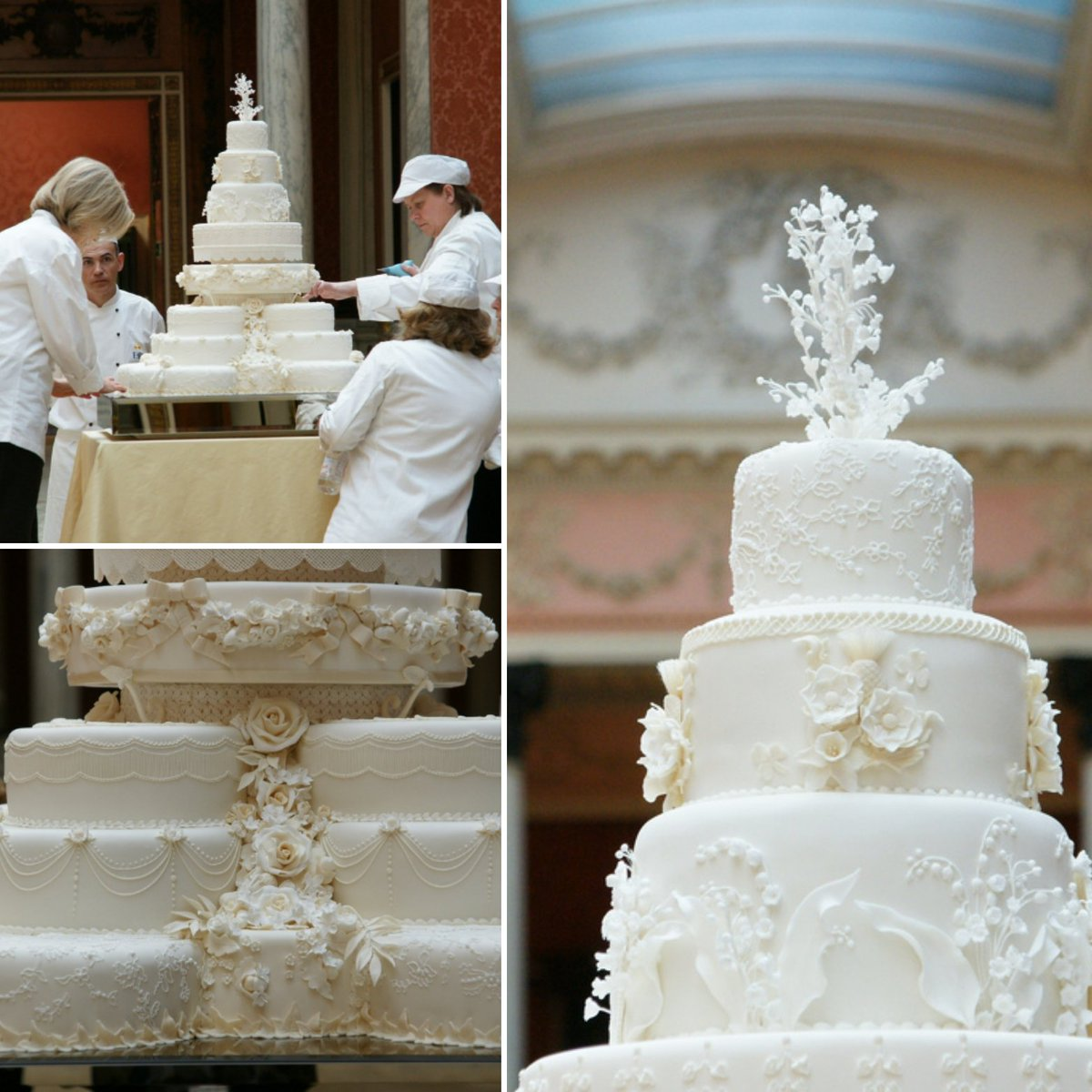 """͊¸ìœ""""터의 Regalfille ˋ˜ The Wedding Cake For Prince Williamand Catherine Middleton S Wedding Was Made By Chef Fiona Cairns The Cake Was An Eight Tiered Traditional Fruit Cake Which Stood At 3ft Tall It"""