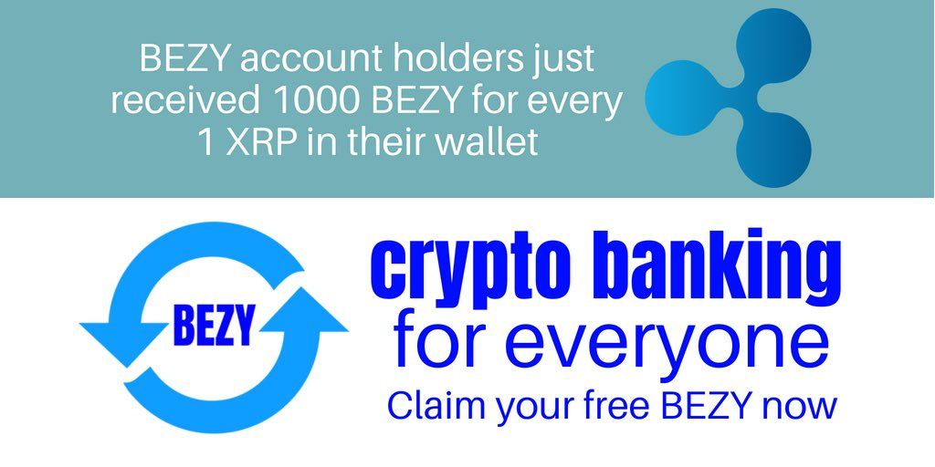 Another airdrop. This time to XRP holder's!  Join here  http:// bezdrop.gr8.com  &nbsp;    #BEZY #XRP #crypto #cryptocurrencies #airdrop<br>http://pic.twitter.com/3F0zlZUxUJ