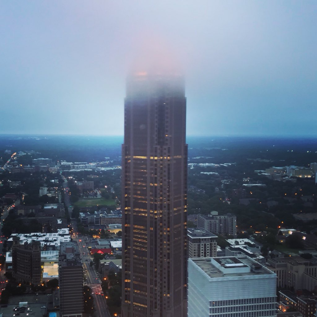 Upon closer inspection the top @BoAPlazaAtlanta is feeling a bit foggy! @wsbradio #skycopter @wsbtv #captncam
